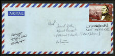 ARGENTINA TO FALKLAND ISLANDS (MOUNT PLEASANT) AIR CVR, RETOURNED TO THE SENDER
