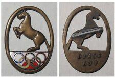 Emaillierte Broschen-Anstecknadel Pferdesport / Reiten Olympia 1936
