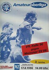 Programm 1996/97 VfL Halle 96 - Meissner SV