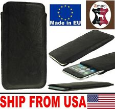 # SLIM PHONE CASE MADE OF NICE CREASED GENUINE LAMB LEATHER SLEEVE POUCH COVER
