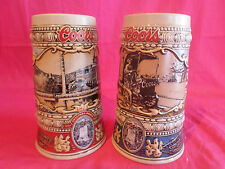 SET OF 2 ANHEUSER BUSCH COORS 1988 AND 1989 HISTORICAL STEINS