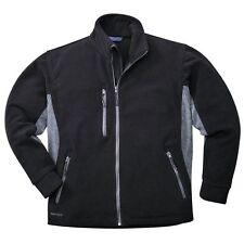Portwest TX40 Texo Mens 2 Tone Fleece Jacket Warm Durable Work Wear Heavy 400g