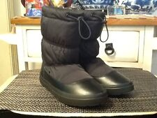 NEW Crocs Women's LodgePoint Pull-on Black Boots US size 7M