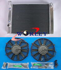 3 ROW Aluminum Radiator & Fans for HOLDEN COMMODORE VB VC VH VK V8 AT/MT
