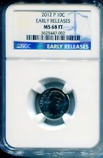 2012-P ROOSEVELT DIME NGC MS68 FT EARLY RELEASES FINEST REGISTRY POP 2