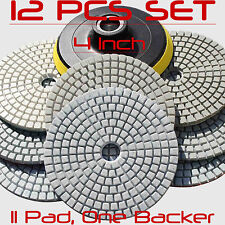 Diamond Polishing Pads Wet/Dry 4 Inch Set Kit Granite Concrete Marble Polishing