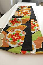 Kimono Fukuro Obi brocado cinturón seda de japón Showa seda mano cosidos