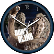 DOCTOR WHO - Weeping Angel Lenticular Wall Clock ~ 26cm Diameter (Wesco) #NEW