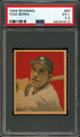 1949 BOWMAN #60 YOGI BERRA RC (HOFer) YANKEES 2nd YEAR CARD PSA 5.5 EX+ Gorgeous