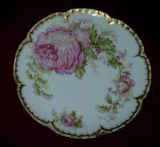"Exquisite Haviland CHRISTMAS ROSE Salad Plate - 7 1/2"" - Excellent"