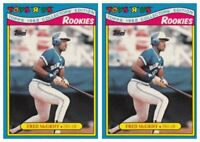 (2) 1988 Topps Toys R' Us Rookies Baseball 18 Fred McGriff Lot Blue Jays