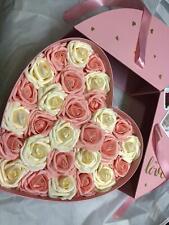 Deluxe BIG Rosenbox 32cm Flowerbox Blumenbox WUNSCH GRAVUR Valentinstag Geschenk