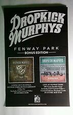 Dropkick Murphys Fenway Park Bonus Ed Black Band 11x17 Music Promo Poster