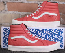 Vans SK8-Hi Reissue Li Lollipop Red Horween Premium Leather High Shoes Size 8.5