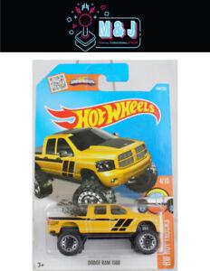 Hot Wheels DODGE RAM 1500 - HW Hot Trucks 4/10 144/250- Yellow  (Aussie Seller)