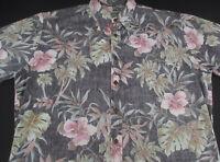 Cooke Street Mens Hawaiian Aloha Button Front Short Sleeve Cotton Shirt Large L
