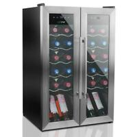 NutriChef PKCWC24 24 Bottle Wine Cooler Refrigerator  with Air Tight Seal
