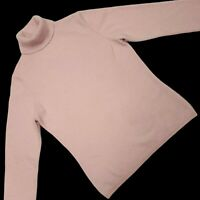 2 Ply 100% Cashmere Sweater Small XS Charter Club Turtleneck Pastel Baby Pink