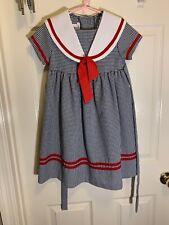 Bonnie Jean Sunday Dress High Waist Black & white Checked Girls Size 5