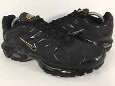 Nike Air Max Plus Tn Black Gold Mens Size 11 Rare 852630-024