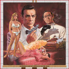 James Bond 007 Framed Box Canvas Print Picture Sean Connery Dr No Film Wall Art