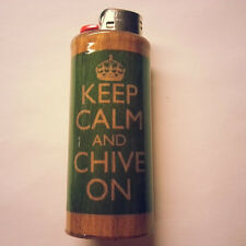 Keep Calm And Chive On KCCO Bic Lighter Case Holder Sleeve Cover