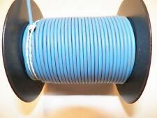 100 FOOT SPOOL 16 GAUGE GXL HI TEMP WIRE LT BLUE/GRAY STRIPE AUTOMOTIVE   FEET