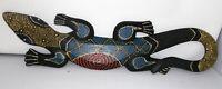 Wandmaske Holz Geko Skulptur -Afrika,Indien H-61cm B-16cm-Handarbeit