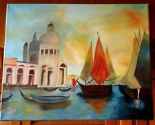 """Original-One of Kind-Oil/Canvas Painting-"""" Venice""""-Signed-COA-Listed Art"""