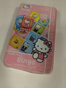 Hello Kitty & Friends Bingo-Alphabet-ABC or Pictures Educational Game-Sanrio-Tin