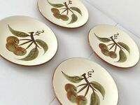 """4 Stangl Pottery Orchard Song Bread & Butter Plates 6 1/4"""" Mint Condition!"""
