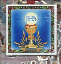 """Communion  wall art ceramic 4"""" x 4"""" tile from Italy"""