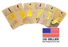 Music Instrument Gold-plated Metal Art Bookmark set of 6