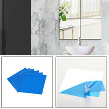6 Pack Square Mirror Wall Tiles for Bathroom Bedroom DIY 30cm X 30cm UK Top