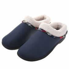 Men's Memory Foam Comfortable Slippers Plush Lining House Shoes Anti-Skid