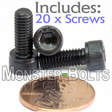 "#10-32 x 1/2"" - Qty 20 - Socket Head Cap - Server or DJ  Audio Rack Mount Screws"