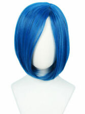 For Cosplay Coraline the Secret Door Short Bob Straight Halloween Blue Wig