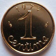 1 Centime Epi 1977 plaqué Or. Pour faire un cadeau souvenir du Franc
