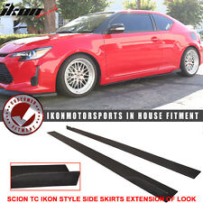 11-16 Scion TC IKON Style Side Skirt Extension Flat Bottom Line Lip PU