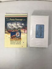 Instruction Booklet And VHS Tape For Popeil Pasta And Sausage Maker 1993