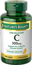 Nature's Bounty Time Released Vitamin C 500 mg 100 Capsules