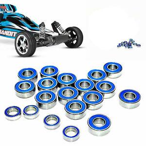 19Pack Blue Ball Rubber Sealed Bearing For Traxxas Slash Rustler 2WD 1/10 RC Car