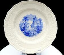 "ROYAL DOULTON VIMY #D5742 BLUE SWIMMING SWANS TRANSFERWARE 11 1/8"" PLATE 1932"