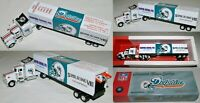 MIAMI DOLPHINS 2001 Greatest Team Truck Trailer METAL DIE CAST 1:80 COLLECTIBLE