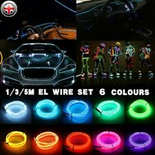 5M Luminescent Neon LED Lights Glow EL Wire Party Strip Rope Car  Bar Sign Lamp