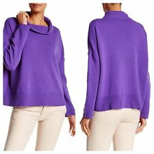 NWT Eileen Fisher Slouchy Funnel Neck Long Sleeve Boxy TOP Sweater Wool JASMINE