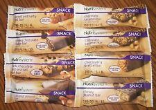 Lot of 8 Nutrisystem Snack Bars  -- Fresh 2020 - 2021 Dates -- Good Variety