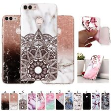 Marble Printed Soft Rubber Phone Case Cover Skin For Huawei P20 Mate 9 10 Lite