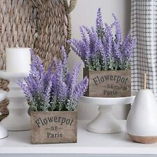 Butterfly Craze Artificial Lavender Plant with Silk Flowers for Wedding Decor