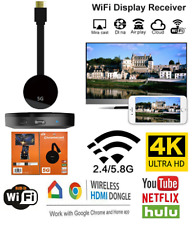 4K 5G Dual Band HDMI WIfi Wireless Display Video Chromecast Miracast TV Dongle